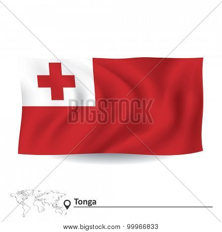 Flag of Tonga - vector illustration