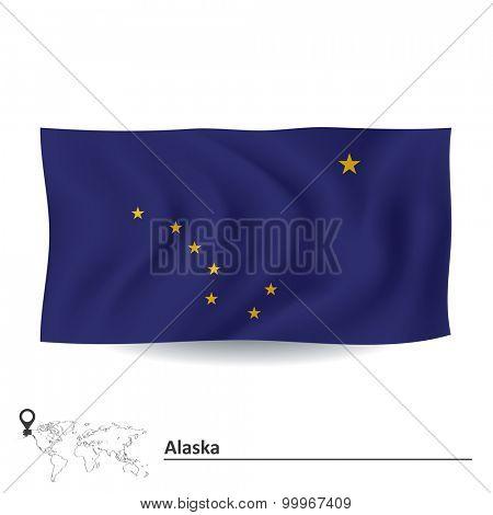 Flag of Alaska - vector illustration