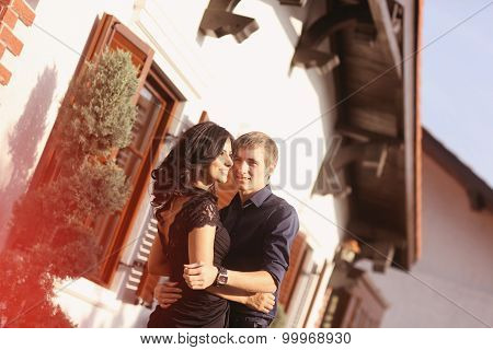 Beautiful Young Couple Embracing