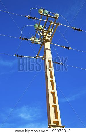 Utility Pole In Energy And Distribution Pylon