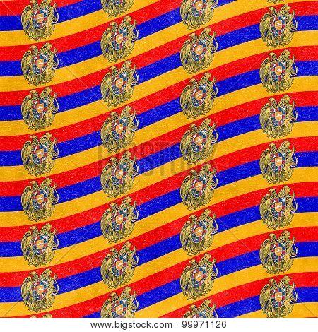 Modern Armenia Shield Pattern Motif