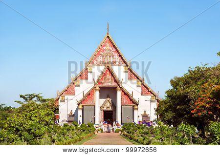 Wihan Phra Mongkhon Bophit, Ayutthaya, Thailand