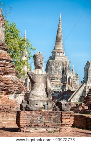 Damaged Buddha Statue At Wat Phra Sri Sanphet, Ayutthaya, Thailand