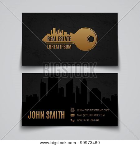 Real estate. Business card template.