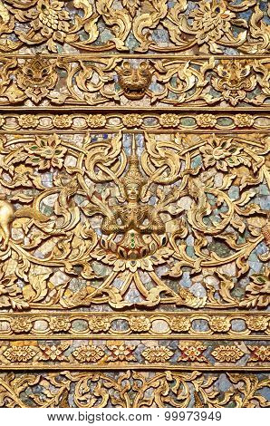 Exterior Detail Of A Buddhist Temple, Chiang Mai, Thailand