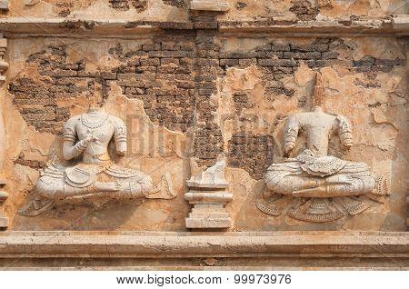 Headless Buddha Statues At Wat Jet Yod, Chiang Mai, Thailand