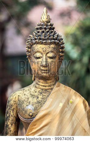 Buddha Statue At Wat Jet Yod, Chiang Mai, Thailand