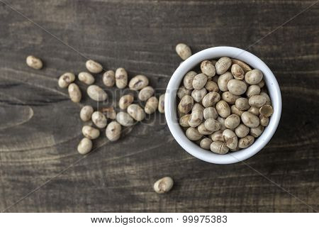 Roasted Soybeans In  Bowl