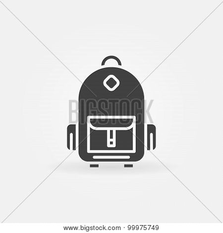 Backpack icon or logo