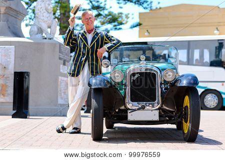 Vintage car exposition. American Austin Bantam 1930 coupe.