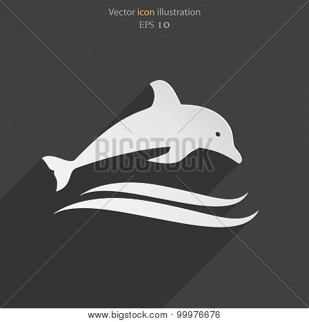 Vector dolphin icon