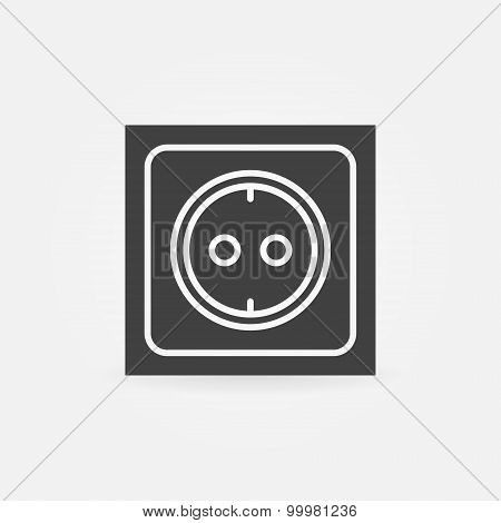Electric socket icon or logo