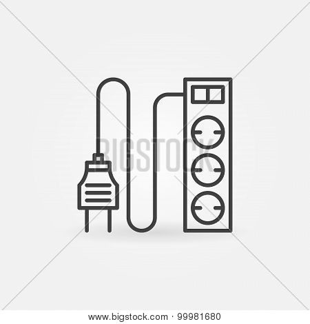 Extension cord icon or logo
