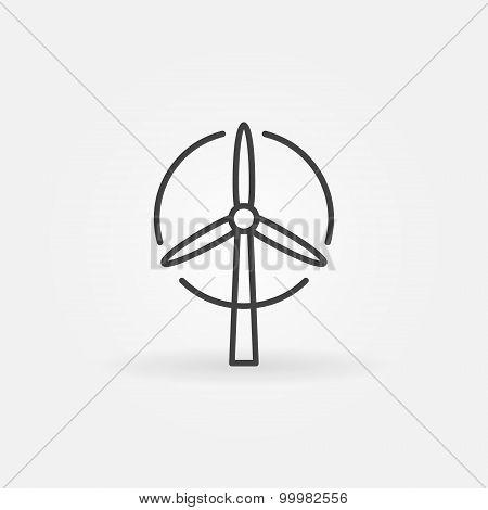 Wind turbine logo or icon