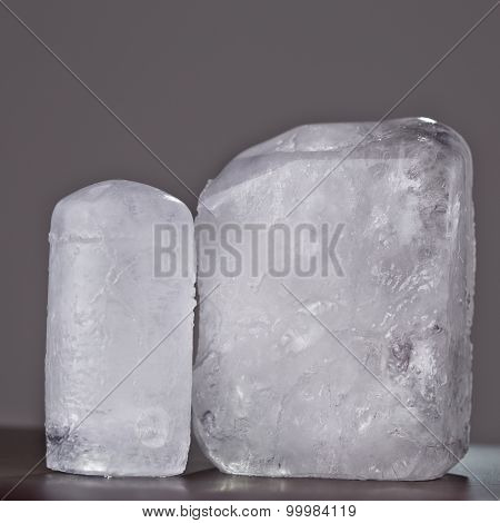 Two Ecologic Deodorant Crystal In Grey Background