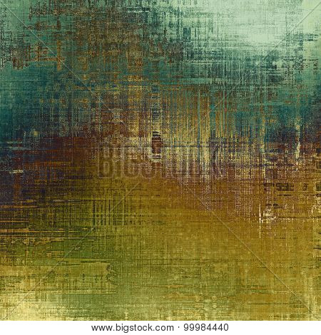 Background with grunge stains. With different color patterns: yellow (beige); brown; green; cyan