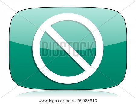 access denied green icon