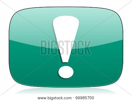 exclamation sign green icon warning sign