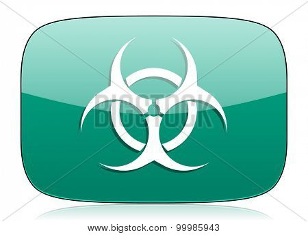 biohazard green icon virus sign