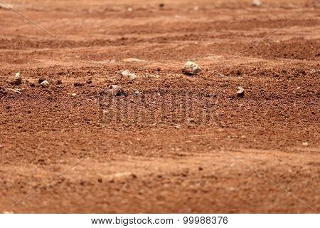 Soil Or Red Earth Background