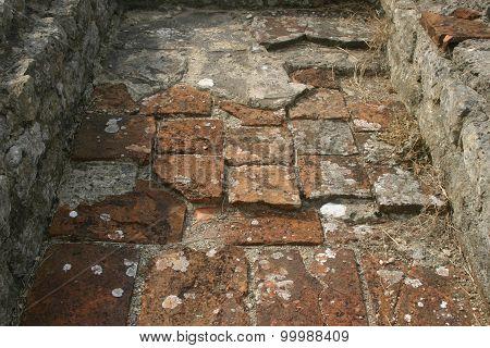 Roman villa floor tiles