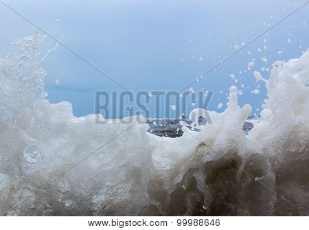 Splashes Of Water From The Sea Waves