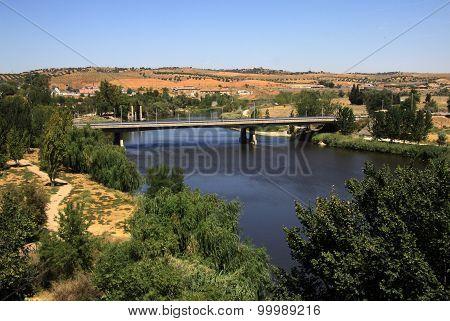 Tagus River In Toledo, Spain