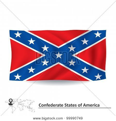Flag of Confederate states of America - vector illustration