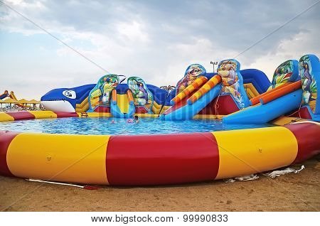 Pool At The Beach In Kerch