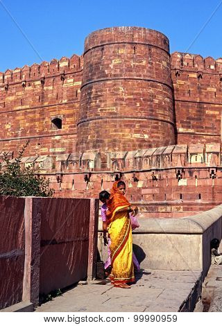 Agra Fort, India.