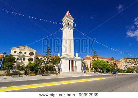 City hall of Zante town on Zakynthos island, Greece