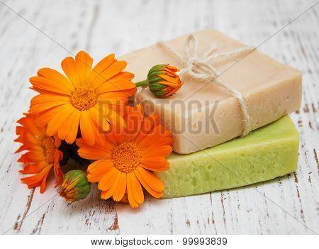 Calendula And Handmade Soap