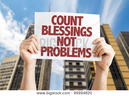 Count Blessing Not Problems card with urban background