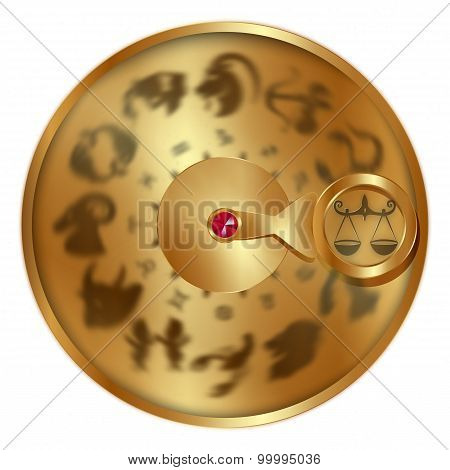 Libra On A Golden Disk