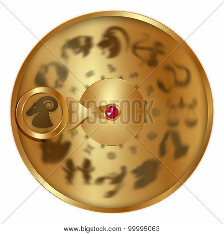 Aries On A Golden Disk
