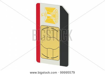 Sim Card With Flag Of Egypt