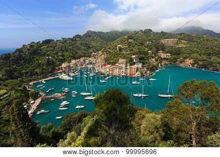 The harbor of traditional village on the Ligurian coast, Portofino