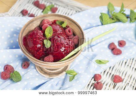 Homemade Raspberry Sorbet