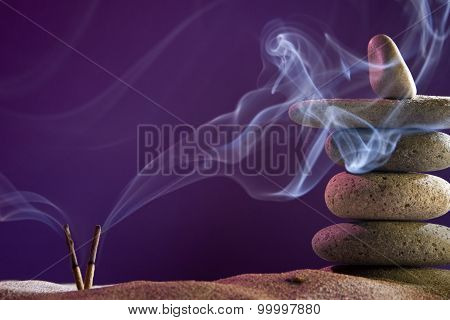 Tower Of Stones And Frankincense In The Sand