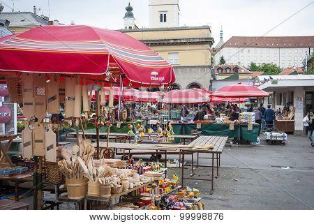 Local Market In Zagreb, Croatia
