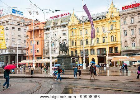 Ban Jelacic Square, Zagreb, Croatia