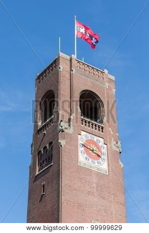 Brick Stone Tower Of Amsterdam Stock Market