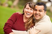 picture of mixed race  - Attractive Mixed Race Couple Portrait in the Park - JPG
