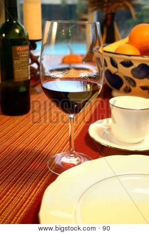 Weinglas warmes Tabelle